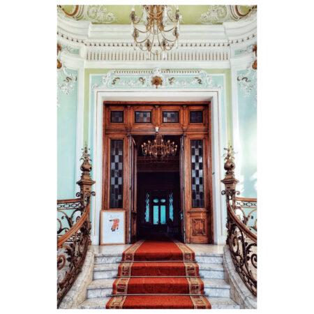Intrarea în palatul Marincu din Calafat