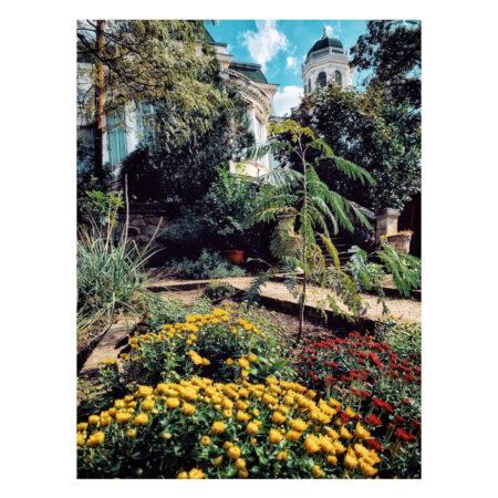 Vedere asupra palatului Marincu din grădină