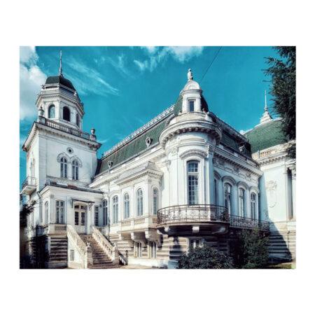 Vedere laterală asupra palatului Marincu