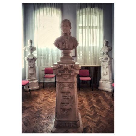 Bustul Mărioarei Marincu la Muzeul de Artă din Calafat - salvat din cavoul familiei Marincu