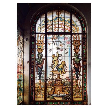 Sera palatului Spayer adăguată de Ion D. Berindey - vitraliu