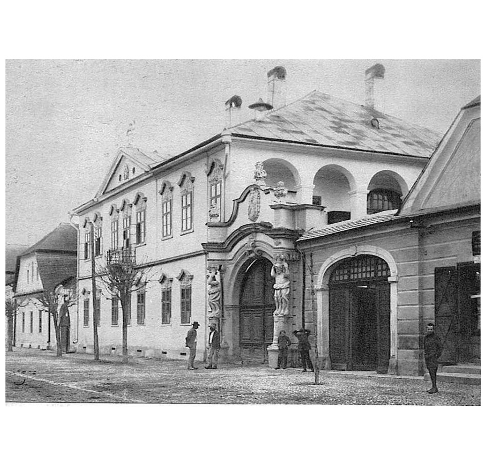 Vedere de epocă Casa Karacsonyi - Sursa: http://www.primaria-gherla.ro/go/galerie