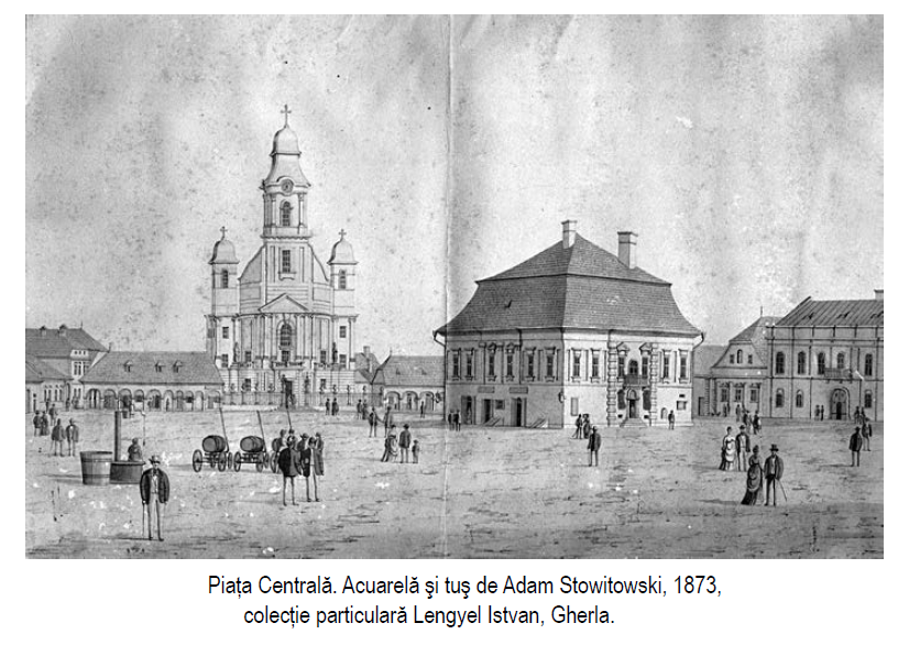 Piata centrala Gherla la 1873