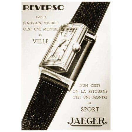 """Reclama ceasului elvețian """"LeCoultre Reverso"""" (Sursa: Pinterest)"""