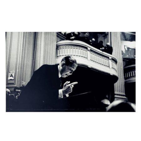 Discursul lui Nicolae Titulescu din Parlament din data de 4 aprilie 1934. Sursa: ANR Fototecă inv. 5243/1407 I - 1