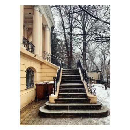 Scara exterioară a reședinței Titulescu