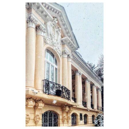 Perspectivă fațadă - reședința Titulescu