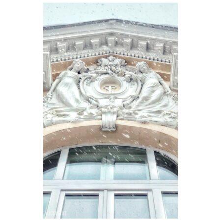 Detaliu fațadă - reședința Titulescu