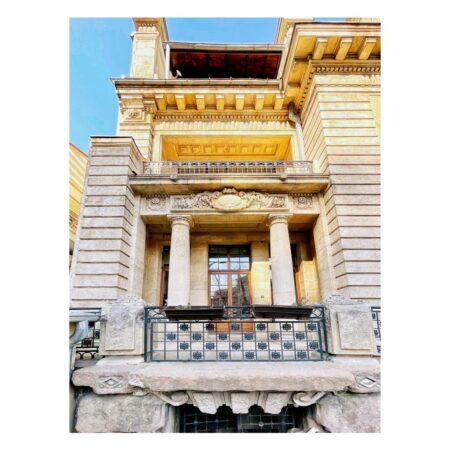 Detaliu fațadă - Casa ing. Constantin M. Vasilescu - Lascar Catargiu nr. 54