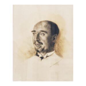Portretul lui Sextil Pușcariu din salonul doamnei Costescu