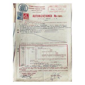Autorizatia emisa pentru constructia garajului din Blanduziei 1 - arh. Arghir Culina
