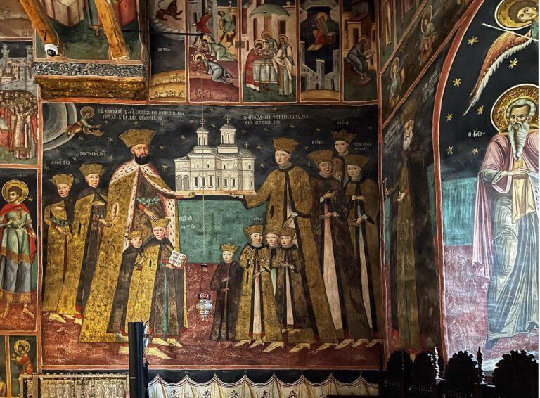 Pictura votivă cu familia Brâncoveanu