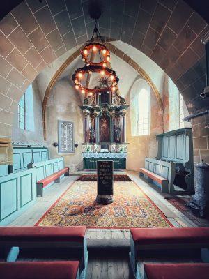 Altarul din Biserica fortificată din Axente Sever
