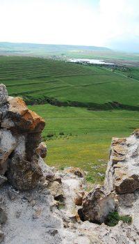Detaliu printre ruine la Enisala