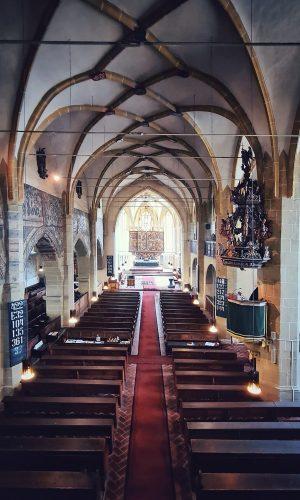 Interiorul Bisericii fortificate Sf. Margareta